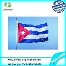 Free Shipping Cuba Flag NEW 90x150cm Cuban Flag 100% Polyester 3x5ft Flag of Cuba
