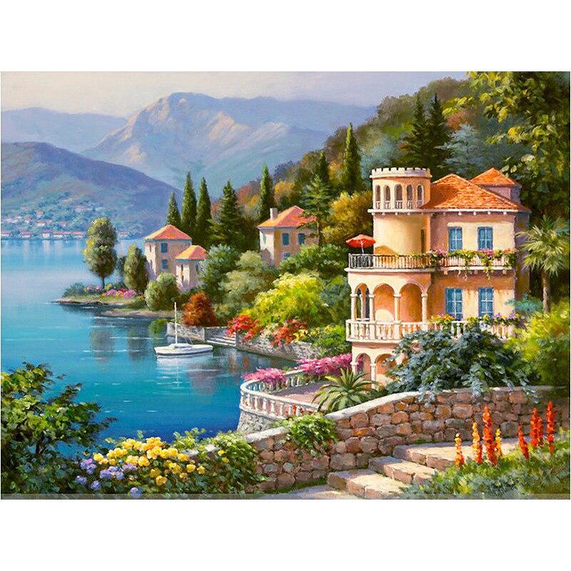 Online get cheap pittura di paesaggi marini acrilici for Paesaggi marini dipinti