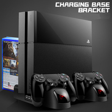 Charger PS4/PS4 Slim/ PS4 Pro Dual Controller Charger Console Vertical Cooling Stand Charging Station Playstation 4 High Quality