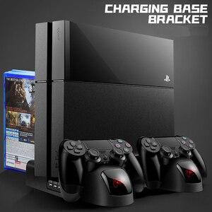Image 1 - מטען PS4/PS4 Slim/ PS4 פרו כפולה בקר מטען קונסולת אנכי קירור Stand טעינת תחנת פלייסטיישן 4 גבוהה איכות