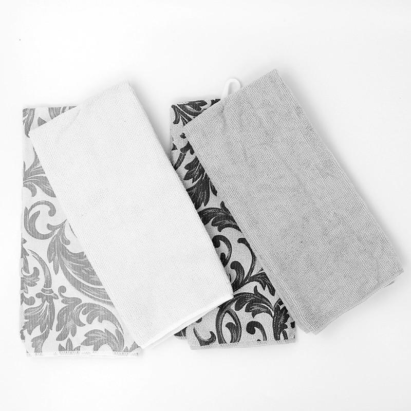 60X40cm Microfiber Big Kitchen Towel Cleaning Cloth Absorbent Washing Windows Car Floor Multi purpose Cloth Home