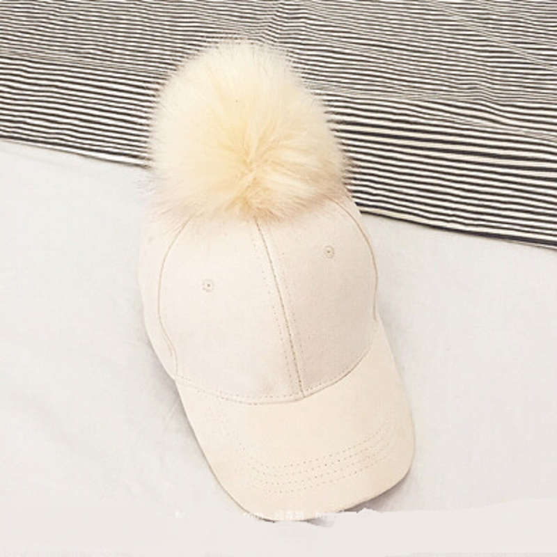 6a45ad237fd Aliexpress.com   Buy Fashion Faux Fur Pom Pom Suede Baseball Cap Female Fur  Ball Gorros Snapback Caps Adjustable Solid Hip Hop Hats For Women from  Reliable ...