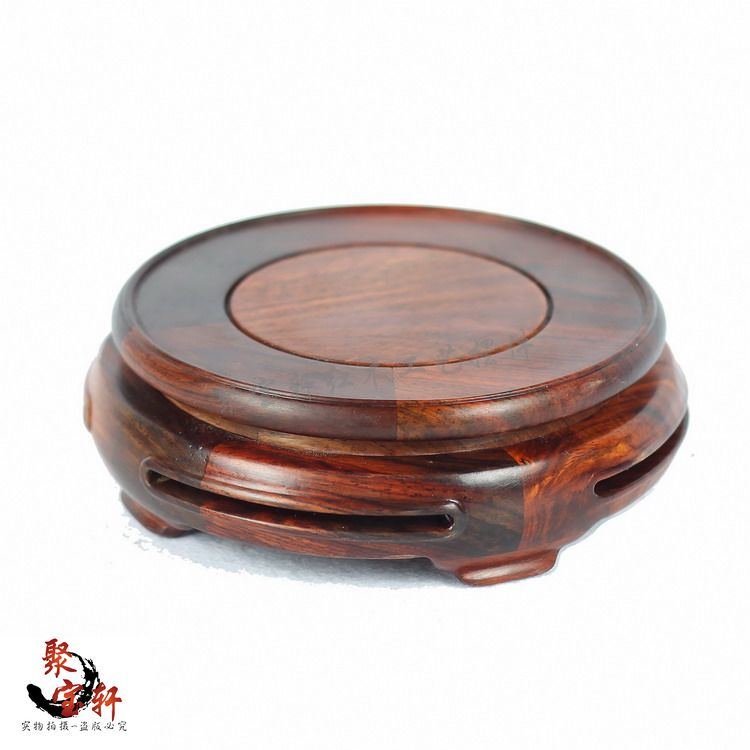 Rosewood carving annatto handicraft circular base of real wood of Buddha stone vases, act the role ofing is tasted furnishing