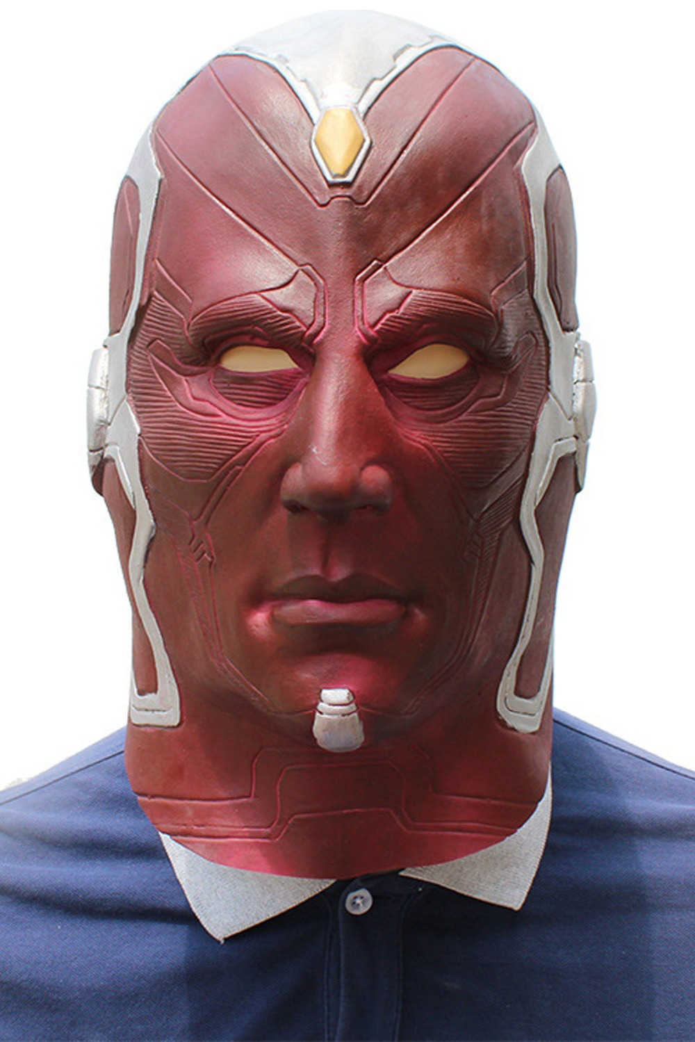 The Avengers Superhero Vision Mask Cosplay Full Head Latex Mask Fancy Ball Helmet Props Masks
