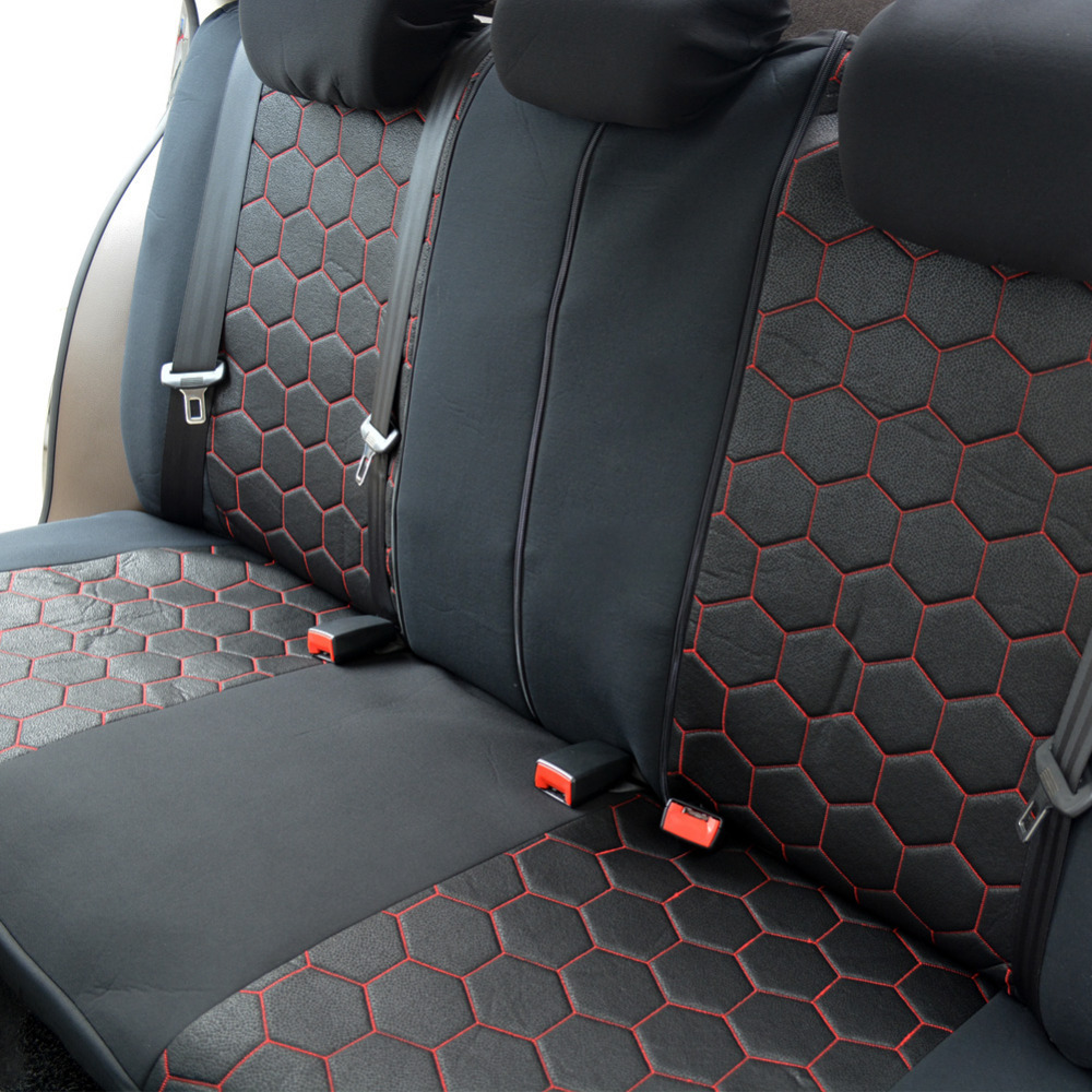 2018 New Car Seat Covers Supports Full Auto Cover Universal Interior Accessories Soccer Style 9 PCS Lot Protector In Automobiles