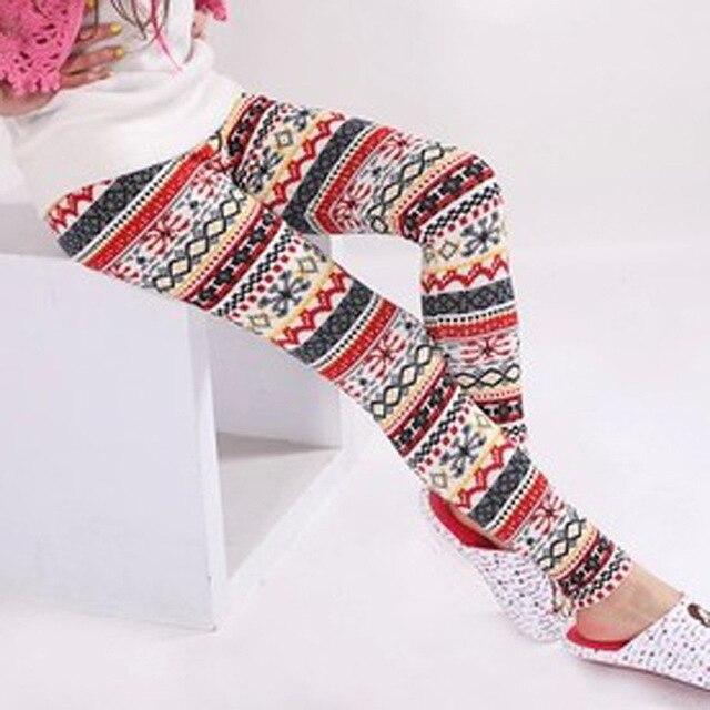 4154a7d5a Tamaño pequeño mujeres embarazadas impresas nieve leggings para mamá  algodón primavera otoño maternidad leggings tobillo longitud