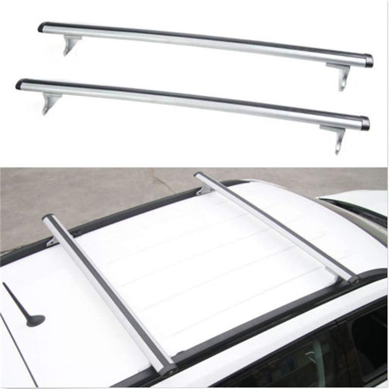 2pcs Car Aluminum+ABS Silver Luggage Carrier Top Roof Rack Cross Bars Fit For Jeep Compass 2017 Car-Styling Car Accessories car styling aluminum roof luggage rack for ford focus hatchback 1 3m accessories