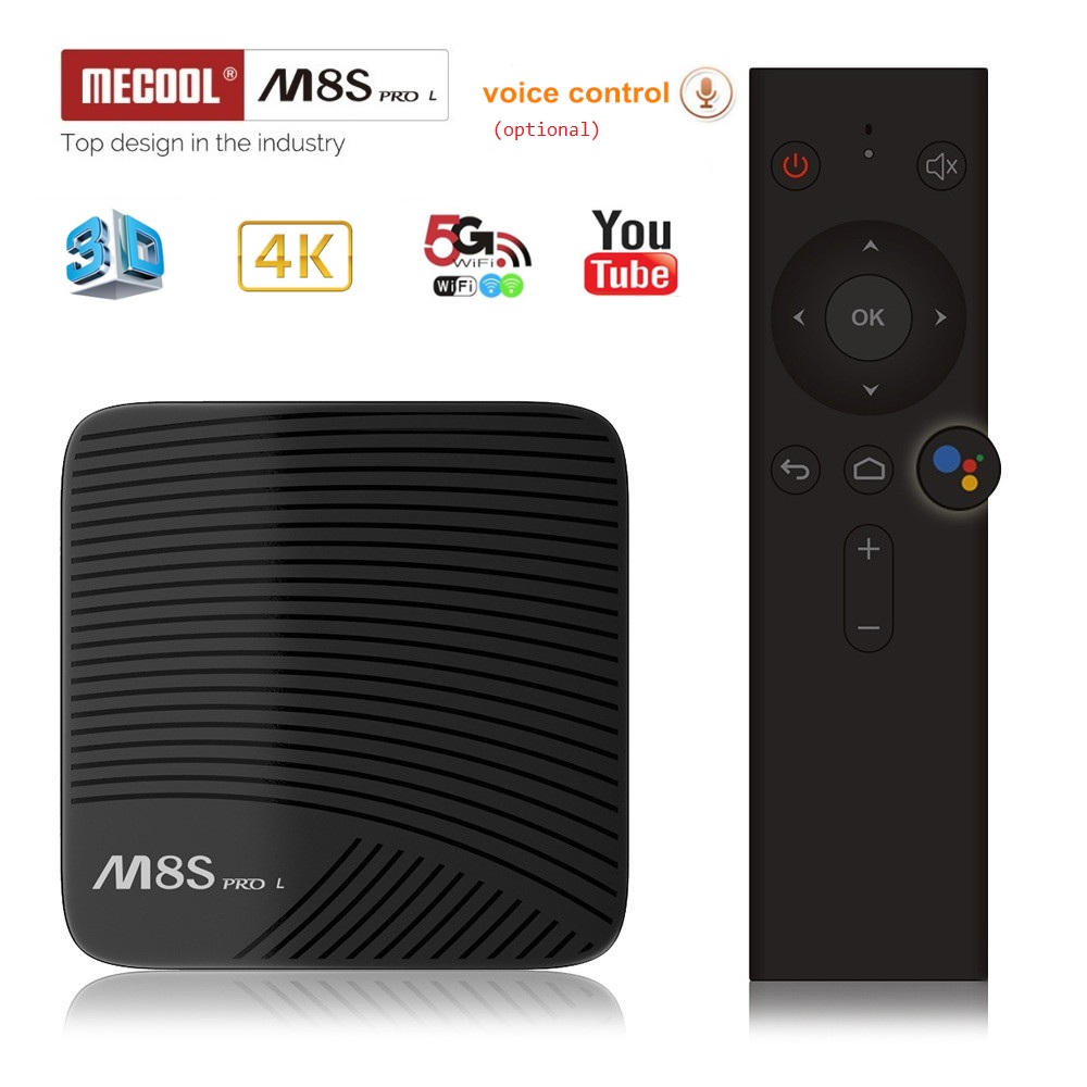 Mecool M8S PRO L Voice Control TV Box Amlogic S912 Smart Android 7.1 Wifi Set Top Box Bluetooth 4K HD Media player 3G RAM 16G цена