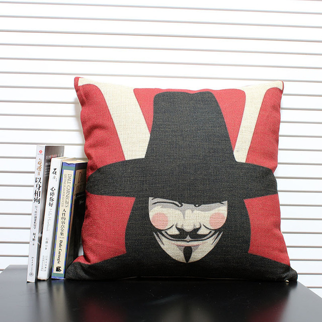 Free Shipping High Quality Linen Invisible Zipper Sofa Cushion Cover Pillow 45