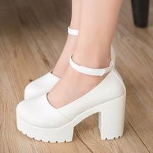 Thick Footwear Heels Shoes High Pumps Women
