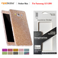 Para samsung galaxy a3 2015 luxuruy bling full body decal glitter adesivo filme de diamante case para galaxy a3 cobertura cintilante HU1084