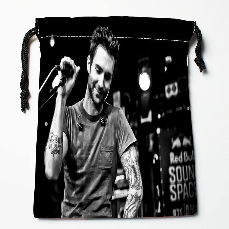 Custom Adam Levine Printed Satin Storage Bag Drawstring Gift Bags More Size Storage Custom Your Image 27x35cm