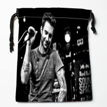 Custom Adam Levine printed Satin storage bag drawstring gift bags More Size storage custom your image 27x35cm