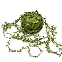 10 метров шелковые листья ручной работы искусственные зеленые листья для украшения свадьбы DIY ВЕНОК подарок Скрапбукинг Ремесло поддельные цветы