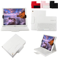 2 In 1 Removable Wireless Bluetooth Keyboard PU Leather Litchi Pattern Case For Apple IPad Pro