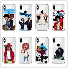 Fashion and lovel Ayo&Teo Rapper for iPhone X10 8 7 6 6S Plus 5 5S XR XS Max High quality soft TPU silicone mobile phone shell ayo ayo joyful