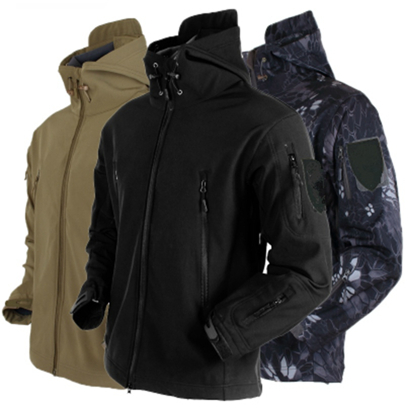 Spring Sharkskin Softshell TAD Tactical Jacket Men Camouflage Hunting Clothes Military Coats Windbreaker Jacket Hiking Camping