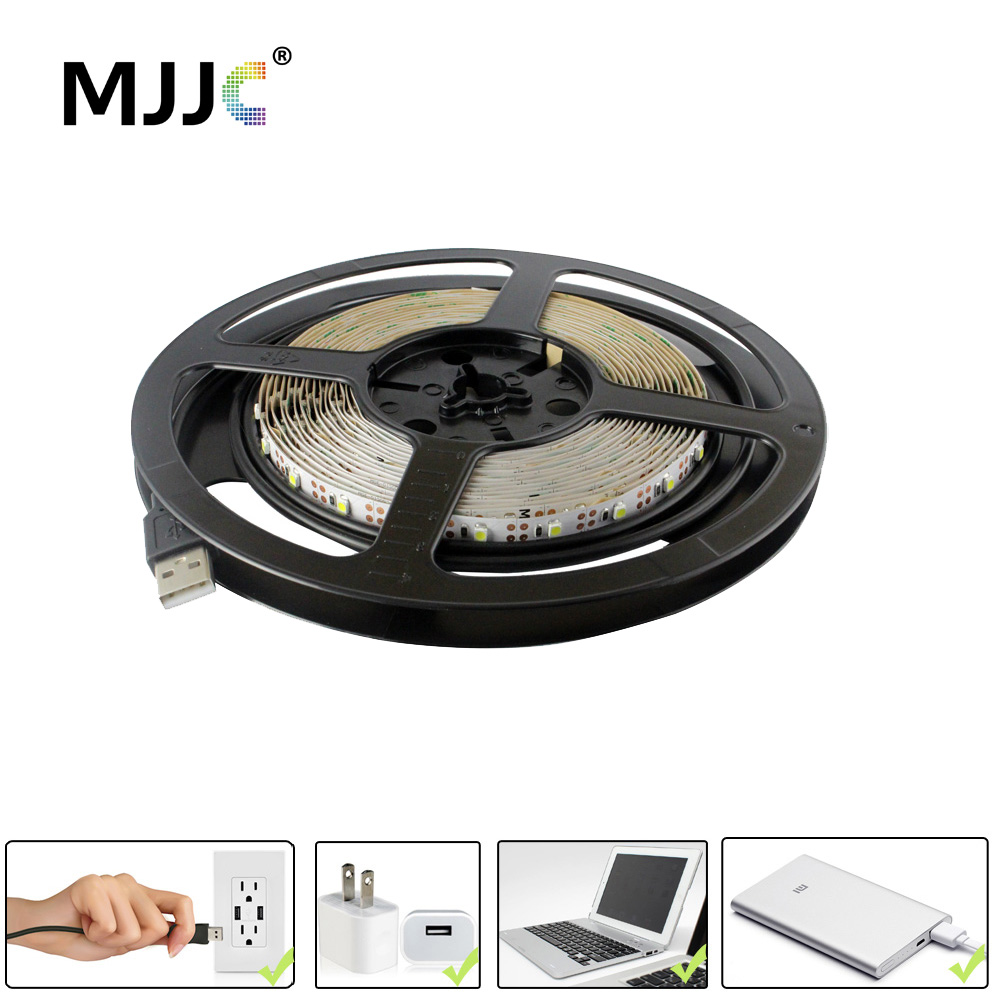 5V USB LED Strip světlo 50CM 1M 2M 3M 4M 5M SMD 3528 Flexibilní páskové světla Přenosné pro osvětlení stolního televizního stolu