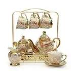 European ceramic household Coffee tea set Heat resistant kettle wedding gift boxes