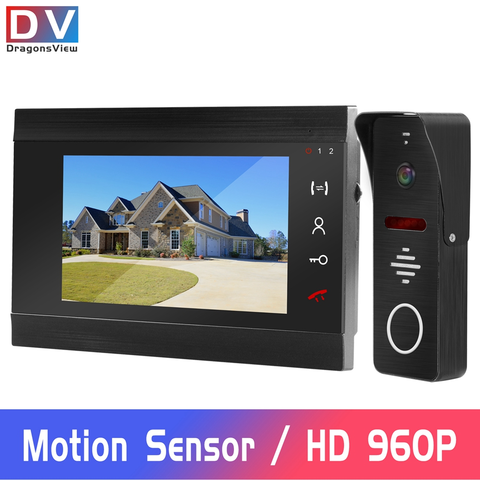 960P HD Video Intercom Wired Video Door Phone For Home Doorbell Camera With Motion Detection Record Support Digital CCTV Camera