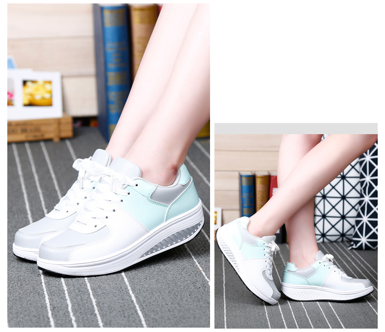 Patchwork Shake Shoes Woman New Leather Platform Women Casual Shoes Lace Up Slimming Ladies Shoes Size 35-40 Walking Shoes ZD61 (13)