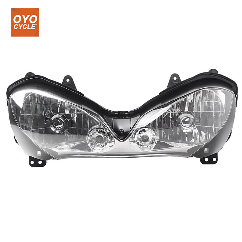 For 04-05 Kawasaki Ninja ZX-10R ZX10R Motorcycle Front Headlight Head Light Lamp Headlamp Assembly CLEAR 2004 2005 high quality abs plastic for kawasaki ninja zx10r zx 10r 2004 2005 04 05 moto custom made motorcycle fairing kit bodywork c459
