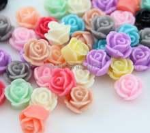 400 шт маленькие разноцветные с розами кабошоны в форме розы