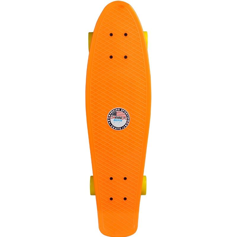Weing 27 pouces quatre roues Skateboard rue longue planche à roulettes Cruiser planche à roulettes pont Longboard roues panneau d'onde