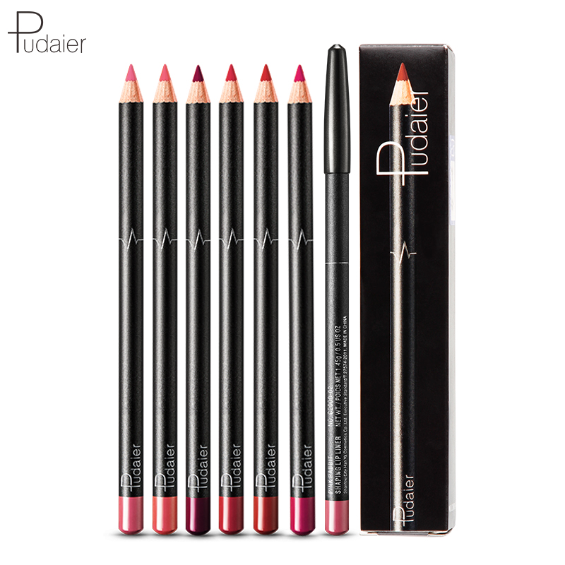 Pudaier 6PCS/Set 6 Colors Lip Liner Set Matte Lipl