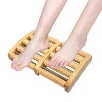 Reflexology Foot Massager Roller Wooden Traditional Chinese medicine Foot Massage Massageador Pain Relaxing Stress Relief CCP057