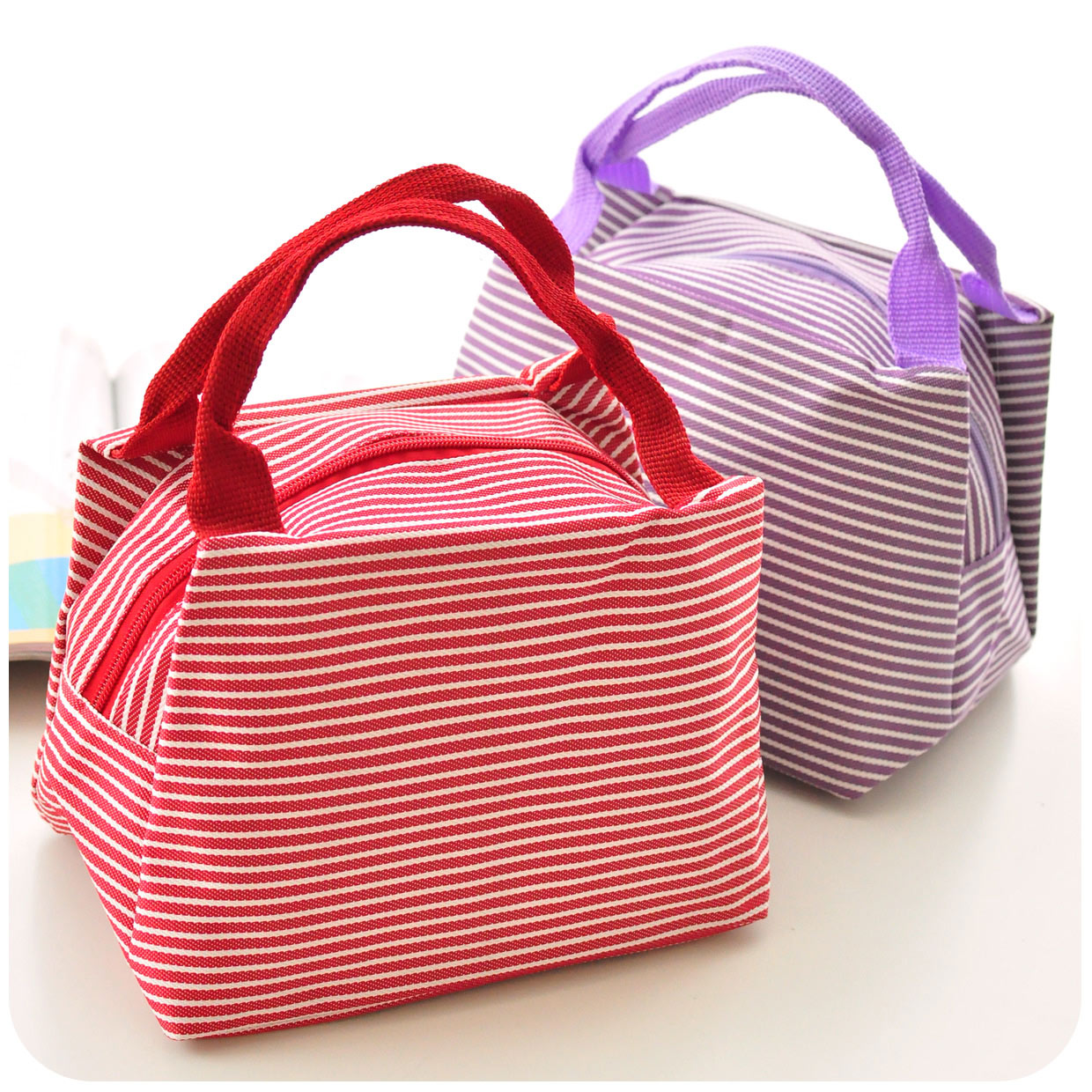 Waterproof Stripe Lunch Bag High Quality Fabric Tote For Women Kids In Bags From Luggage On Aliexpress Alibaba