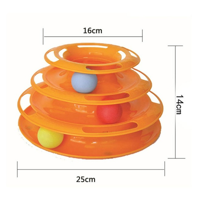 Funny Pet Interactive Toy Triple Play Disc Balls