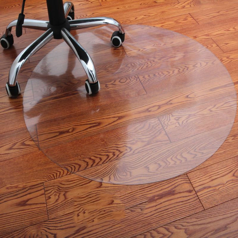 Pvc Transparent Waterproof D' Water Round Mat Wood Floor Protection Mat Computer Chair Mats Protectors Plastic Soft Carpet Rug image