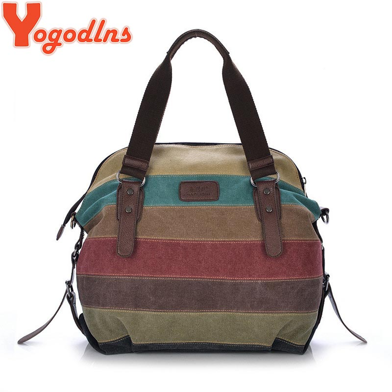 canvas bag tote striped women handbags patchwork women shoulder bag new fashion sac a. Black Bedroom Furniture Sets. Home Design Ideas