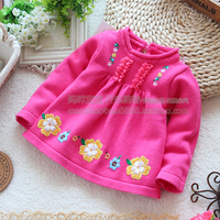 Free Shipping Retail 2013 Spring Autumn Baby Clothes Kids Sweater Baby Girl Cute Embroidery Long Sleeve
