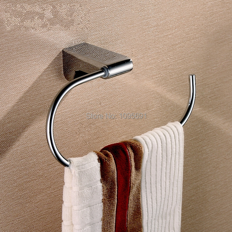 Free shipping Quality assurance plating chrome Solid brass Towel ring towel rack be first bcaa be first 2 1 1 powder 250гр