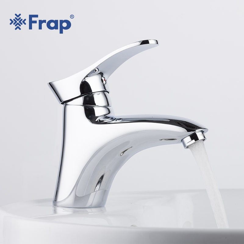 Frap High Quality Brass Basin Faucet Hot and Cold Water Mixer Faucets Bath Sink Tap Chrome Finished torneira Bathroom Taps F1001 цена