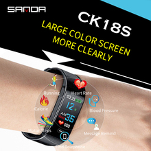 SANDA Smart Bracelet Bluetooth Sports Watch with Heart Rate Monitoring for Android iOS