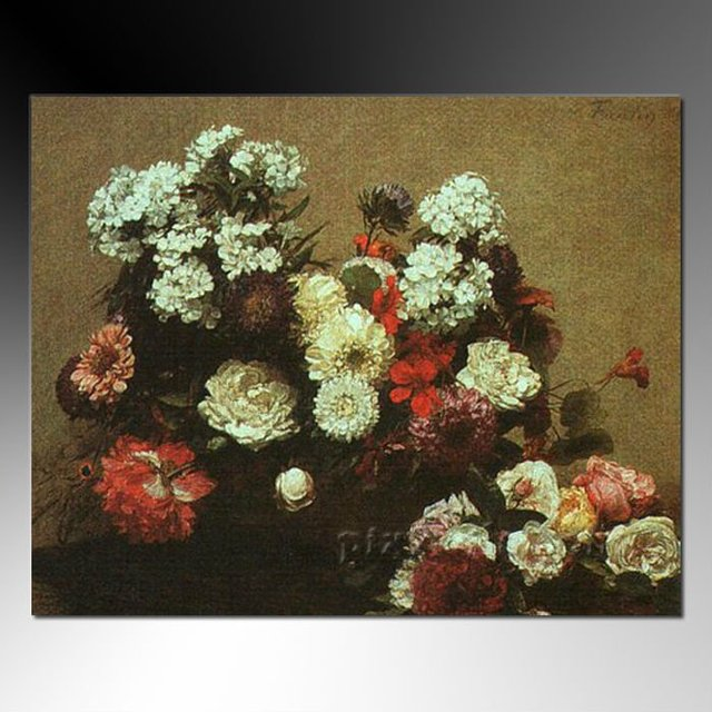 Handmade decorative flowers painting