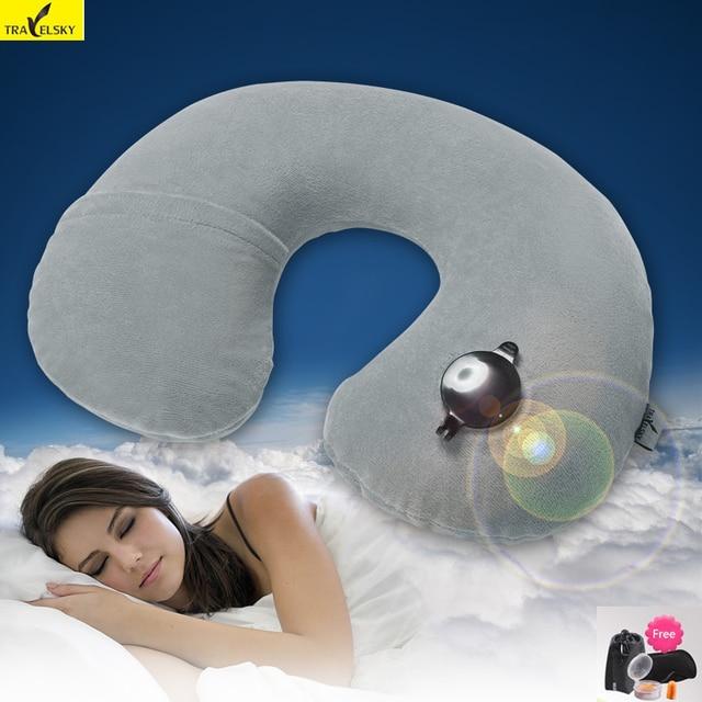 Travelsky дорожные аксессуары высокое качество надувные Подушки Детские самолет Подушки для шеи удобные Подушки для сна Три подарок