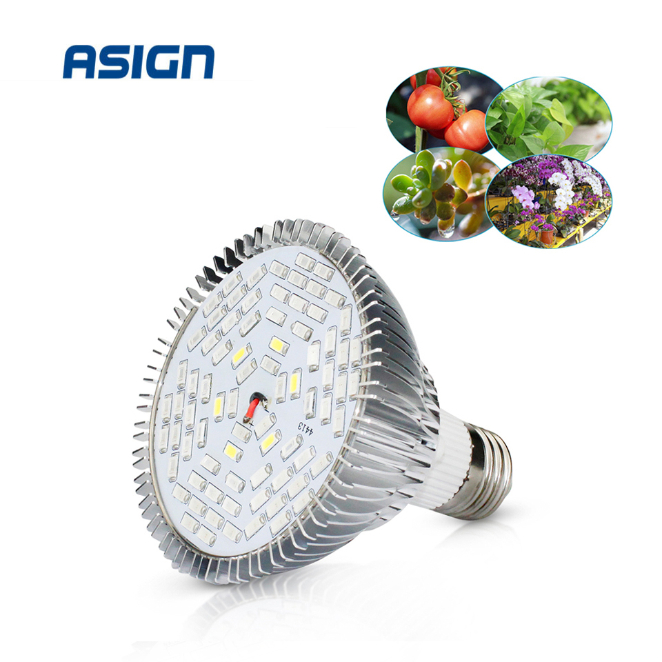 LED Phyto Lamp Full Spectrum 30W 50W 80W E27 LED Grow Light Fitolampy Bulbs 5730 SMD 28 40 78 120LEDs Lamp For Plants Seeding