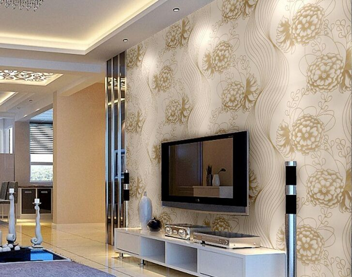 glitter European Flash peony Wallpaper Roll For Walls  Modern Luxury flower Wall Paper For Ceiling Hotel Living Room free dhl ems 6pin 8pin server power supply cable for dell2950 2850 1470w 6pin 8pin semi product cable 6 p 8 p 18awg