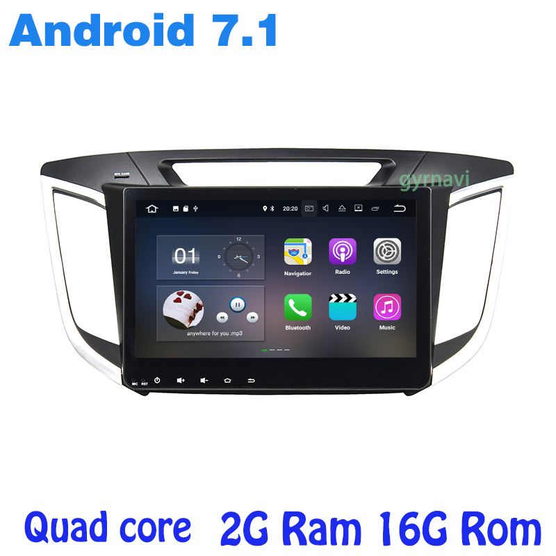 Quad core Android 7 1 font b Car b font radio gps player for Hyundai IX25