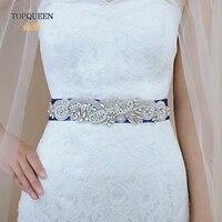 TOPQUEEN SJD S280 Elegant Crystals Rhinestones Wedding Accessories Bride Bridal Sashes Wedding Sashes Belts Bridal Elastic Belt