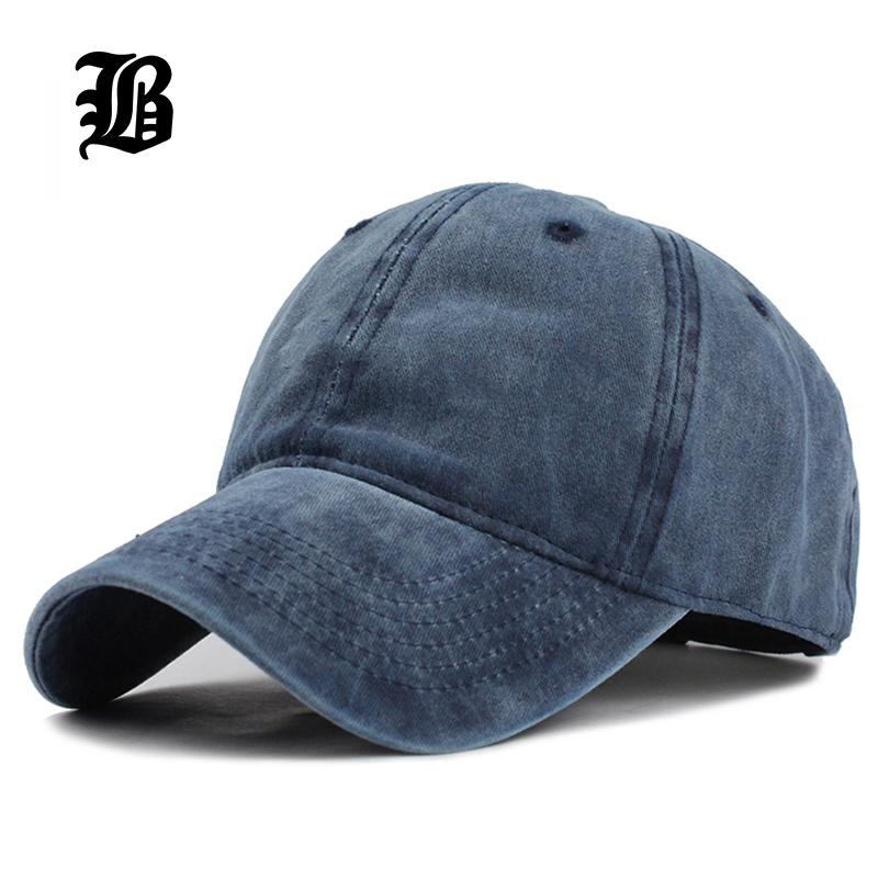 [FLB] High quality Washed Cotton Adjustable Solid color Baseball Cap Unisex couple cap Fashion Leisure dad Hat Snapback cap