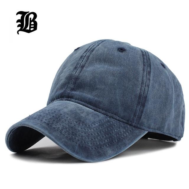 FLB  gorra de béisbol de color sólido ajustable de algodón lavado de alta  calidad aa066019b3d