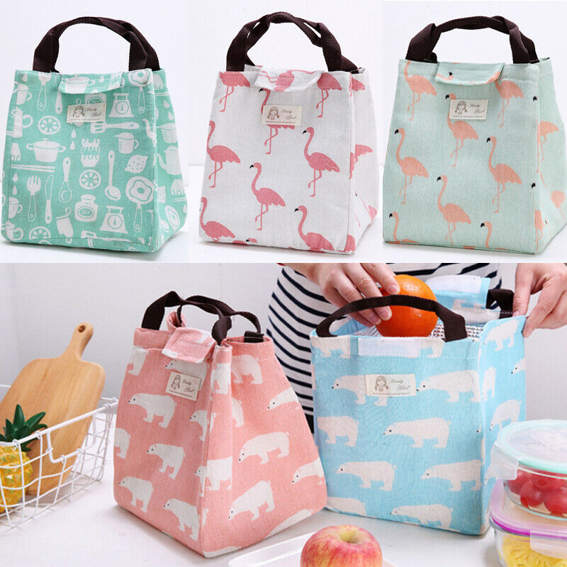 2019 Newest Portable Insulated Thermal Cooler Bento Lunch Box Carry Tote Picnic Storage Bag Oxford Cloth Lunch Bags Dropshipping