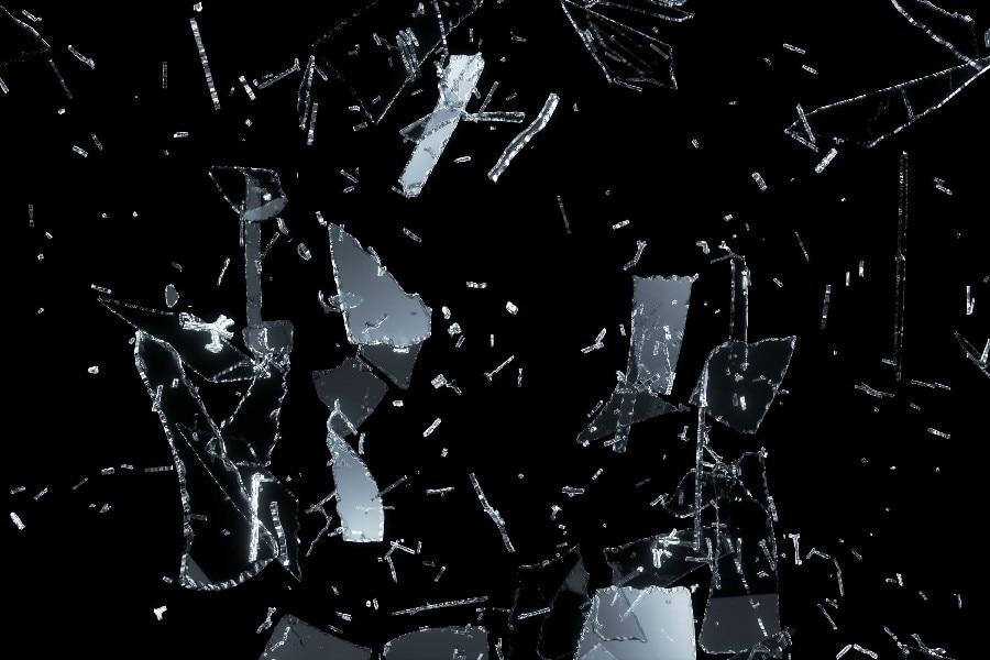 DIY marco vidrios rotos destrozado grieta abstracto ventana bokeh ...