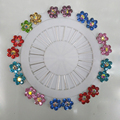 New Hijab Pins Wholesale 20PCS Flower Crystal Muslim Hijab Brooches For Women Safety Scarf Pins Hijab Pins Silver Pins Mix Color