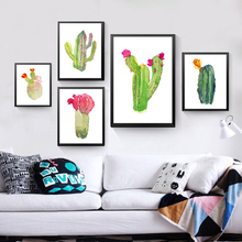 nordic cactus plants decorative paintings for living room abstract wall painting posters and prints canvas